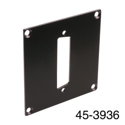 CANFORD UNIVERSAL MODULAR CONNECTION PLATE 1x D-sub25, black