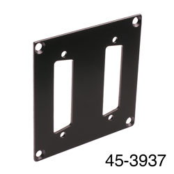 CANFORD UNIVERSAL MODULAR CONNECTION PLATE 2x D-sub25, black