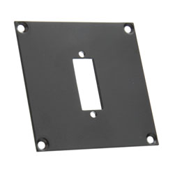 CANFORD UNIVERSAL MODULAR CONNECTION PLATE 1x DVI, black