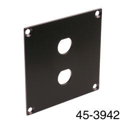 CANFORD UNIVERSAL MODULAR CONNECTION PLATE 2x BNC, black