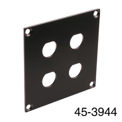 CANFORD UNIVERSAL MODULAR CONNECTION PLATE 4x BNC, black