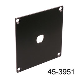 CANFORD UNIVERSAL MODULAR CONNECTION PLATE 1x F type, black