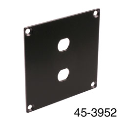 CANFORD UNIVERSAL MODULAR CONNECTION PLATE 2x F type, black