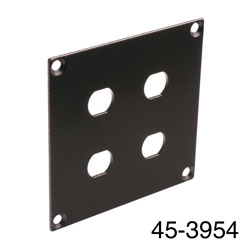 CANFORD UNIVERSAL MODULAR CONNECTION PLATE 4x F type, black