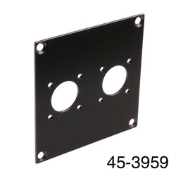 CANFORD UNIVERSAL MODULAR CONNECTION PLATE 2x N type, black