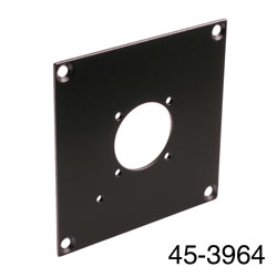 CANFORD UNIVERSAL MODULAR CONNECTION PLATE 1x Lemo fibre  FXW/FMW plug, black