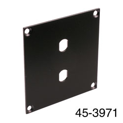 CANFORD UNIVERSAL MODULAR CONNECTION PLATE 2x ST fibre couplers, black