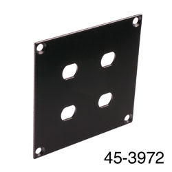 CANFORD UNIVERSAL MODULAR CONNECTION PLATE 4x ST fibre couplers, black
