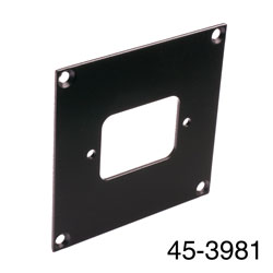 CANFORD UNIVERSAL MODULAR CONNECTION PLATE 1x IEC mains female, black