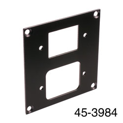 CANFORD UNIVERSAL MODULAR CONNECTION PLATE 1x IEC female, 1x male, black
