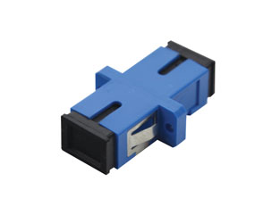 SC SM SIMPLEX PANEL COUPLER, Blue (also fits LC duplex panel cutout)