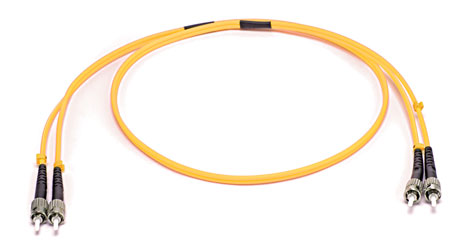 ST-ST SM DUPLEX OS2 9/125 Fibre patch cable 2.0m, yellow
