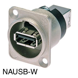 NEUTRIK NAUSB-W USB2.0 Panel mounting, back-to-back feedthrough