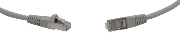 CAT6A SCREENED PATCHCORD RJ45-RJ45-10m, Grey