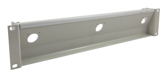 CANFORD TAILBOARD PANEL Angled 2U 3x Hirose JRC21 CCZ-A type plug / skt, grey