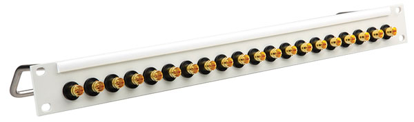 CANFORD BNC TERMINATION PANEL 1U, 1x16, 12G 4K, grey, gold