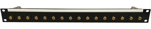 CANFORD BNC TERMINATION PANEL 1U, 1x16, 12G 4K, black, gold