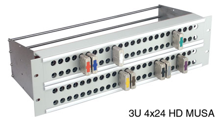 CANFORD MUSA 3G HD PATCH PANEL 3U 4x24 MUSA 3G HD, grey