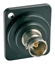 CANFORD D-SERIES BNC (double-sided), 75 ohm, black