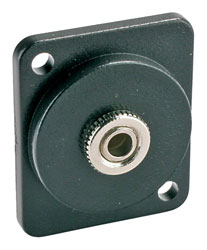 CANFORD D-SERIES 3.5mm 3-pole jack, black