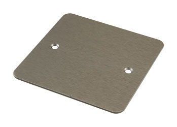 CANFORD F0SN CONNECTOR PLATE 1-gang, blank, satin nickel