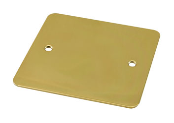 CANFORD F0PB CONNECTOR PLATE 1-gang, blank, polished brass