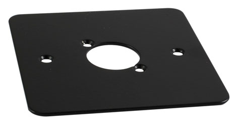 CANFORD F1B CONNECTOR PLATE 1-gang, 1 mounting hole, black