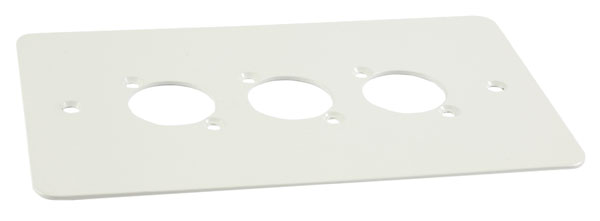 CANFORD F3W CONNECTOR PLATE 2-gang, 3 mounting holes, white