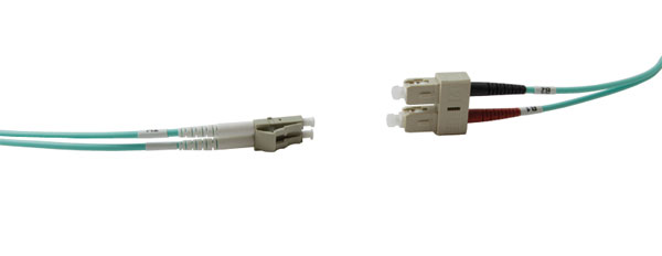 SC-LC MM DUPLEX OM3 50/125 Fibre patch cable 10m, aqua