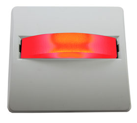 CANFORD LED SIGNAL LIGHT White plate, red LED