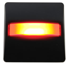 CANFORD LED SIGNAL LIGHT Black plate, red LED
