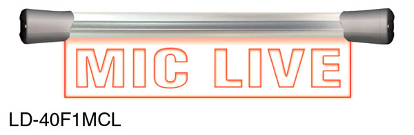 SONIFEX LD-40F1MCL ILLUMINATED SIGN Mic Live, LED, single, flush mount, 400mm