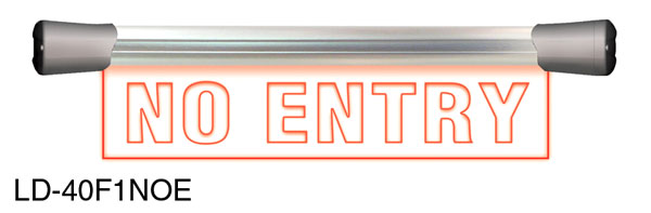SONIFEX LD-40F1NOE ILLUMINATED SIGN No Entry, LED, single, flush mount, 400mm