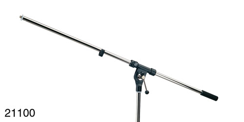K&M 211 MICROPHONE BOOM ARM One-section, T-bar lock, 800mm, chrome