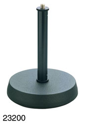 K&M 232 TABLE STAND Round cast-iron base, anti-vibration insert, 175mm height, black