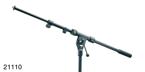 K&M 211/1 MICROPHONE BOOM ARM Two-section, 470-770mm, T-bar lock, black