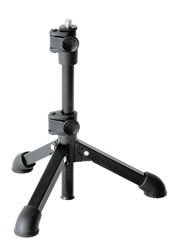 K&M 23150 TRIPOD TABLE STAND Square tube folding legs, 3/8 inch thread, 230-430mm, black