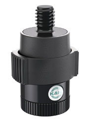 K&M 23910 QUICK RELEASE ADAPTER Female 5/8 and 3/8 inch thread, male 3/8 and 5/8 inch thread, black