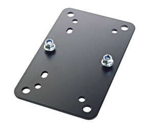 K&M 24354 UNIVERSAL MOUNTING BRACKET Horizontal, multiple mounting templates, black