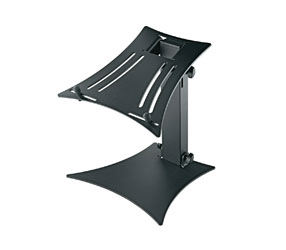 K&M 12190 LAPTOP STAND Desktop, freestanding, plate base, 264x304mm table, 324mm height, black