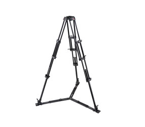 MANFROTTO 545GB VIDEO TRIPOD Aluminium,3 leg sections, 158.5cm height, 100mm bowl, ground spreader