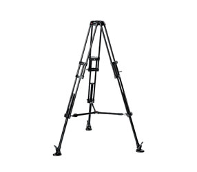 MANFROTTO 546B VIDEO TRIPOD Aluminium, 3 leg sections, 154cm height, 75mm bowl, mid-level spreader