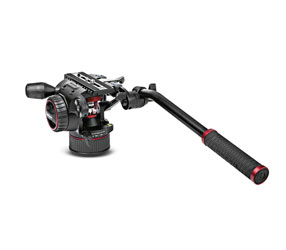 MANFROTTO MVHN8AH NITROTECH N8 VIDEO TRIPOD HEAD Continuous counterbalance, 8kg payload, flat base
