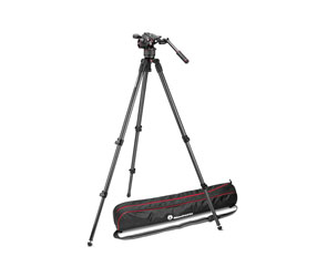 MANFROTTO MVKN8C VIDEO TRIPOD KIT Includes 535K aluminium tripod, NITROTECH N8 head, bag