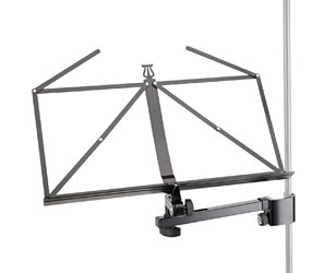 K&M 11505 MUSIC STAND Folding, tube clamp, black