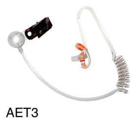 CANFORD AET3 ACOUSTIC EARTUBE Transparent, with medium right earmould, with clip