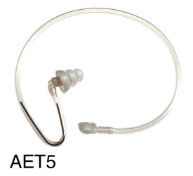 CANFORD AET5 ACOUSTIC EARTUBE Transparent, with silicon eartip, no clip