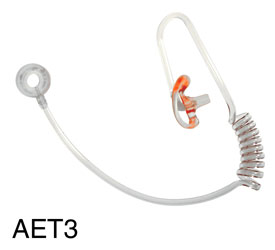 CANFORD AET3 ACOUSTIC EARTUBE Transparent, with medium left earmould, no clip