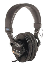 CANFORD LEVEL LIMITED HEADPHONES MDR7506 88dBA, wired stereo, 3.5mm jack & 6.35mm adapter