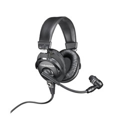 AUDIO TECHNICA BPHS1 HEADSET 65 ohms, 560 ohm dyn mic, 3-pin male XLR, 6.35mm jack, straight cable